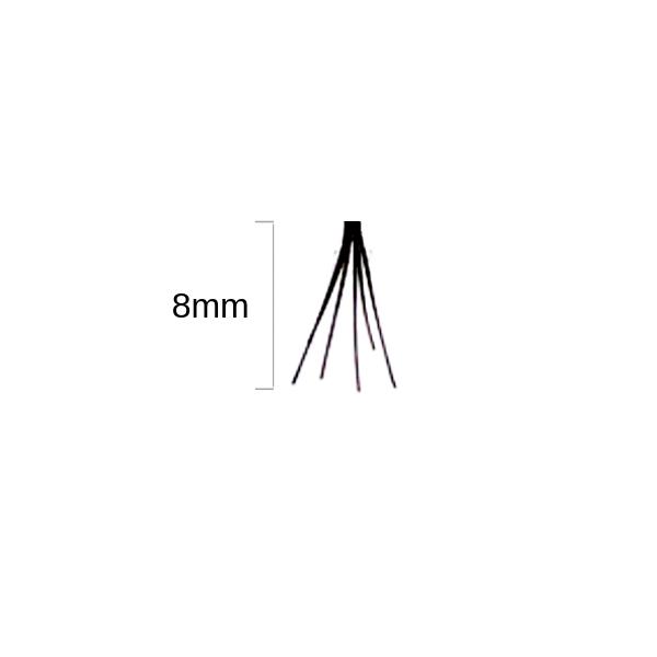 Duralash Double- Ciglia a ciuffetto naturali SENZA NODI (corte nere)