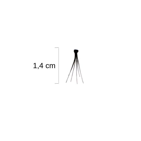 Duralash Individuals- Ciglia a ciuffetto naturali CON NODI (lunghe nere)