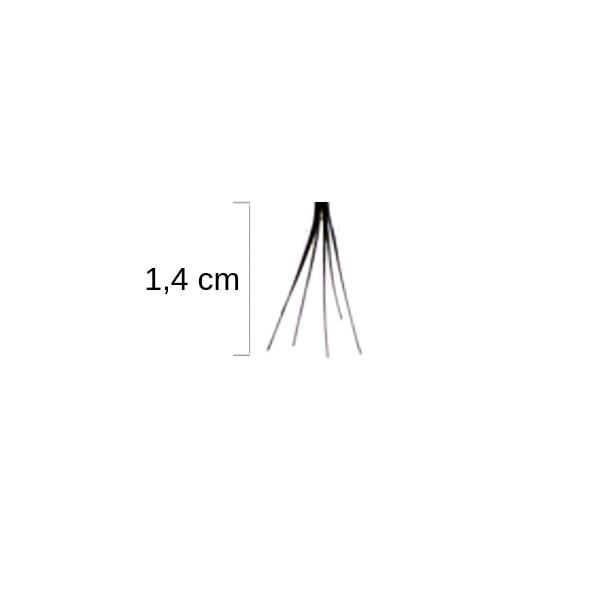 Duralash Individuals- Ciglia a ciuffetto naturali SENZA NODI (lunghe nere)