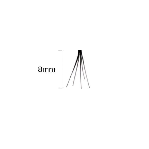 Duralash Individuals- Ciglia a ciuffetto naturali SENZA NODI (corte nere)